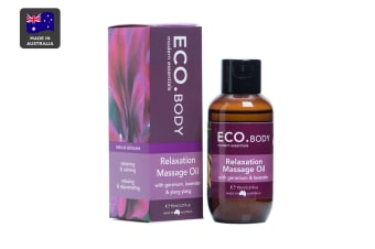 ECO. Relaxation Massage Oil with Geranium, Lavender & Ylang Ylang (95mL)