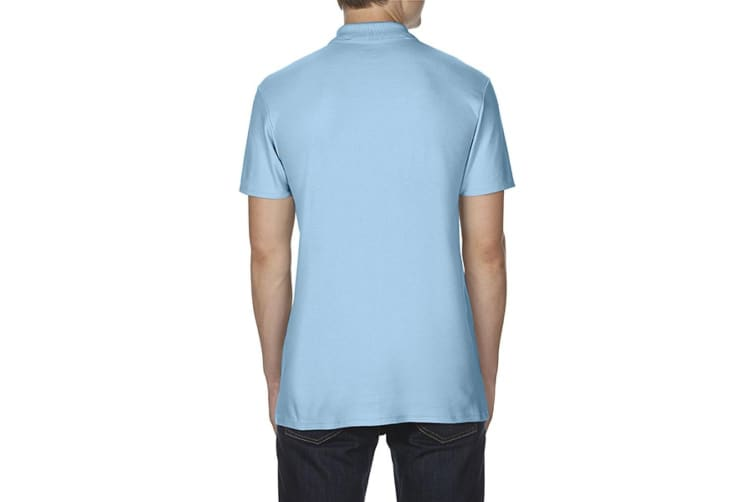 Gildan Softstyle Mens Short Sleeve Double Pique Polo Shirt (Light Blue) (S)