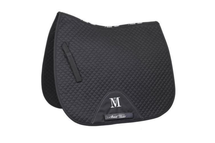 Mark Todd High Wither Super Cotton Dressage Saddlepad (Black) (Cob/Full)