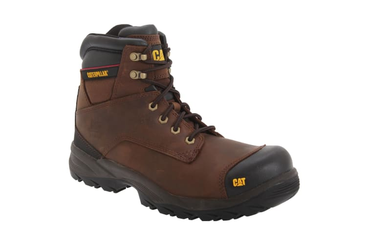 Caterpillar Mens Spiro Water Resistant Safety Boots (Brown) (6 UK)