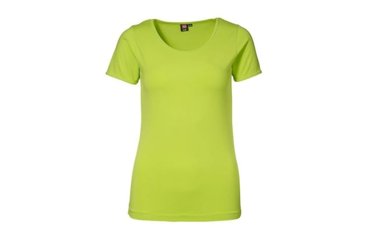ID Womens/Ladies Stretch Fitted Short Sleeve T-Shirt (Lime) (2XL)