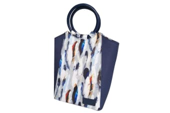 Sachi Insulated Lunch Bag carry Tote Storage Travel Bag Feathers