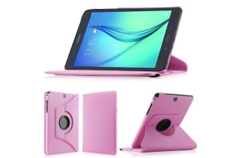 "Samsung Galaxy Tab A 7.0"" Rotating 360 PU Leather Stand Case Smart Cover by MEZON (SM-T280, T285, Pink)"