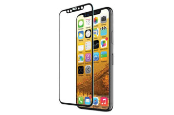 EFM Curved Sapphire Glass Screen Armour/Protector for iPhone X Clear/Black