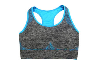 Women's Seamless Sports Bra High Impact Pocket Yoga Bras L