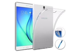 "Samsung Galaxy Tab A 8.0"" 2017 Ultra-Thin Transparent Clear TPU Gel Case by MEZON (SM-T380, T385) – Anti Scratch, Shock Absorption – with Screen Protector and Stylus"