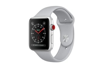 Apple Watch Series 3 (Silver, 38mm, Fog Sport Band, GPS + Cellular)
