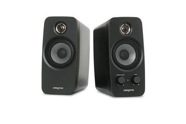 Creative Inspire T10 BLACK Speakers 2.0 Channel 5W RMS/Ch 75dB SNR BasXport Bass & Volume Control