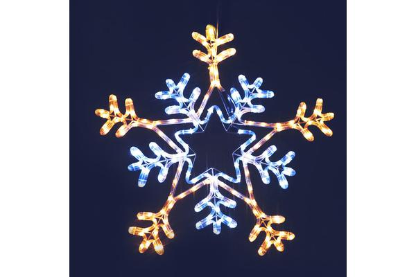 Jingle Jollys Christmas LED Motif Lights Multi Colour Snowflake