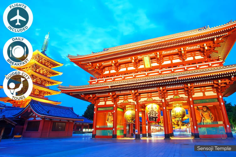 JAPAN: 9 Day Japan Tour Including Flights for Two