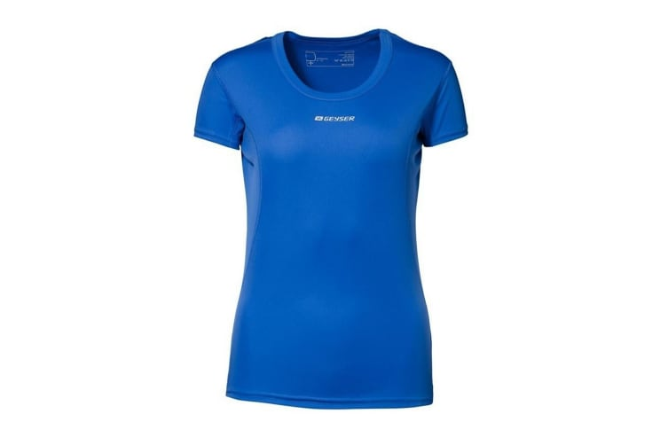 ID Womens/Ladies Active Short Sleeve Fitted Sport T-Shirt (Royal blue) (XS)