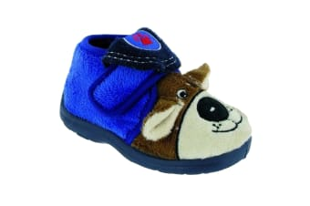 Mirak Bungle Childrens Touch Fastening Slipper / Boys Slippers / Childrens Slippers (Blue)