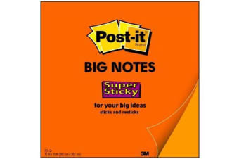3M Post-It Super Sticky Big Notes BN15 Orange 381 x 381mm