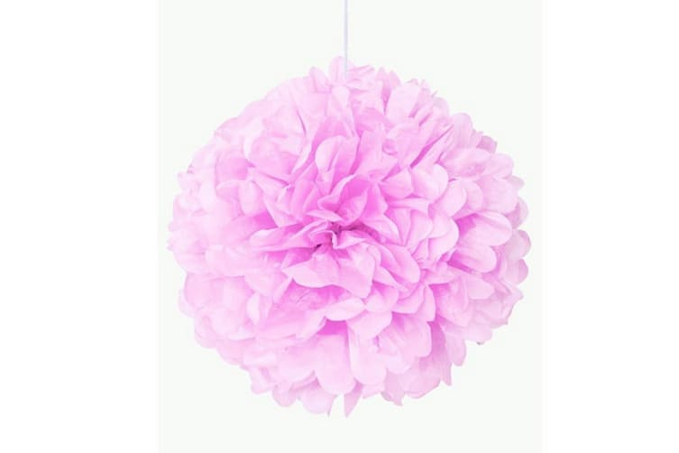 Unique Party Puff Balls Party Decoration (16in) (Lovely Pink) (One Size)