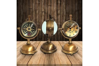 Vintage Style Nautical Table Clock With Brass Stand Titanic Replica