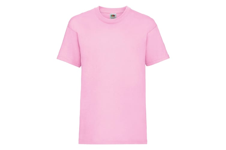 Fruit Of The Loom Childrens/Kids Unisex Valueweight Short Sleeve T-Shirt (Pack of 2) (Light Pink) (1-2)