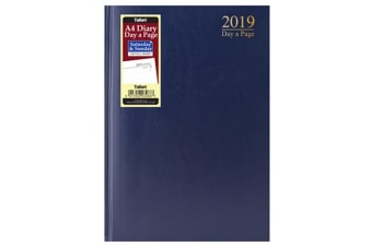 Tallon 2019 A4 Day A Page Full Saturday Sunday Diary (Blue)