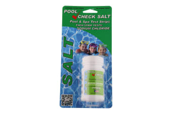 Salt Level Pool Test Strips For Pool & Spa Salt Water 'Pool Check'  Test Strip Kit