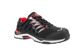Albatros Mens Twist Low Lace Up Safety Shoe (Black/Red)