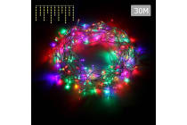 800 Christmas LED Icicle Lights (Multicolour)