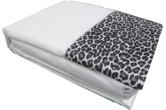 Leopard Sheet Set White by Big Sleep