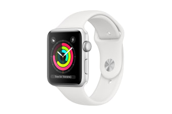Apple Watch Series 3 (Silver, 38mm, White Sport Band, GPS Only)