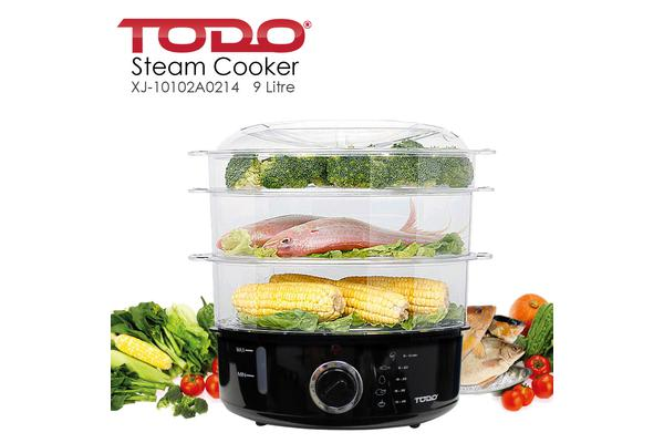 TODO 9L Electric Food Steamer 3 Tray