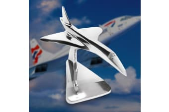 Executive Stainless Steel Concorde Jet Model 46cms