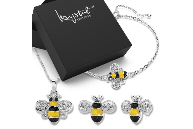 Bumblebee Crystal Jewellery Set