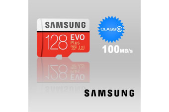 SAMSUNG 128GB UHS-I Plus EVO CLASS 10 U3 4K without SD ADAPTER 100R/90W MB-MC128G