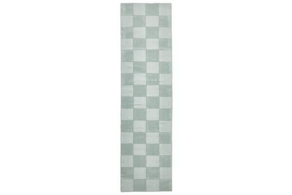 Wool Hand Tufted Rug - Box Seafoam - 400x80cm