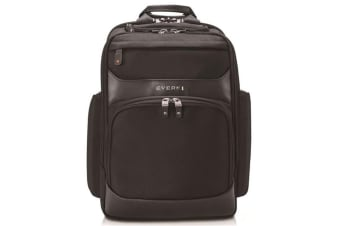 "Everki EKP132 Onyx Laptop Backpack. Up to 15.6"". Travel friendly. Hard-shell quick-access sungless"