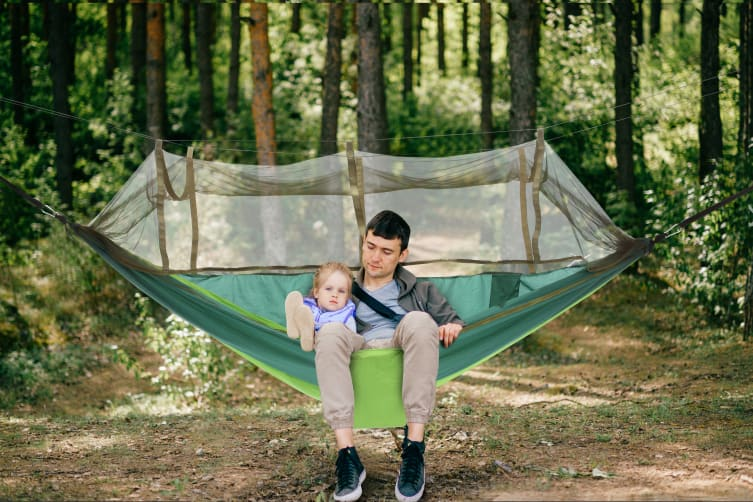 Komodo Ultra-light Hammock with Mosquito Net (Green)