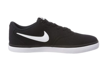 Nike SB Check Solarsoft Men's Skateboarding Shoe (Black/White, Size 7.5 US)