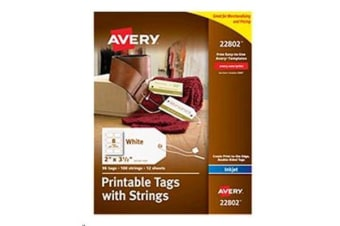 AVERY Double Sided Tags With String 89x51mm