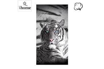 Blue Eyes Stripes Tiger Bath Beach Towel by Just Home