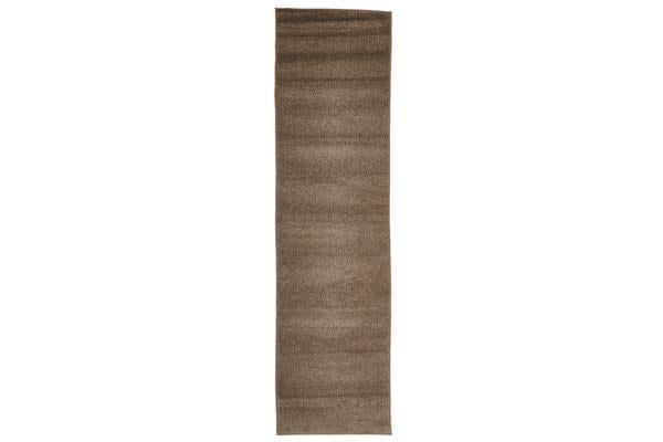 Dense Plain Stone Coloured Rug 300x80cm