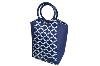 Sachi Insulated Lunch Bag carry Tote Storage Travel Bag Moroccan Navy