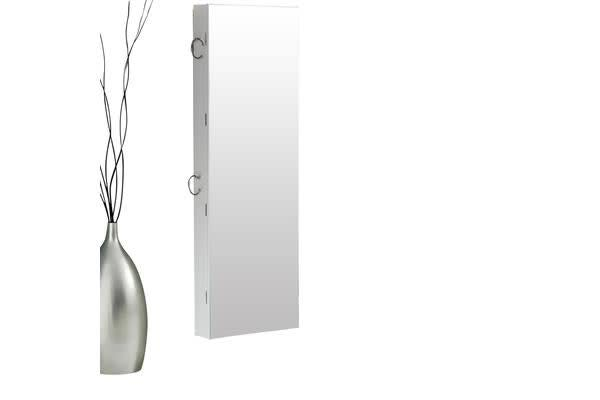 Wall Mounted Full Length Mirror Jewellery Cabinet