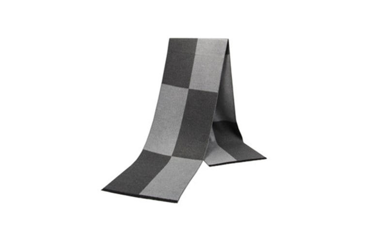 Men'S Scarf Warm And Thicker Chequered Cotton Scarf In Autumn And Winter - 8 Grey 180Cm