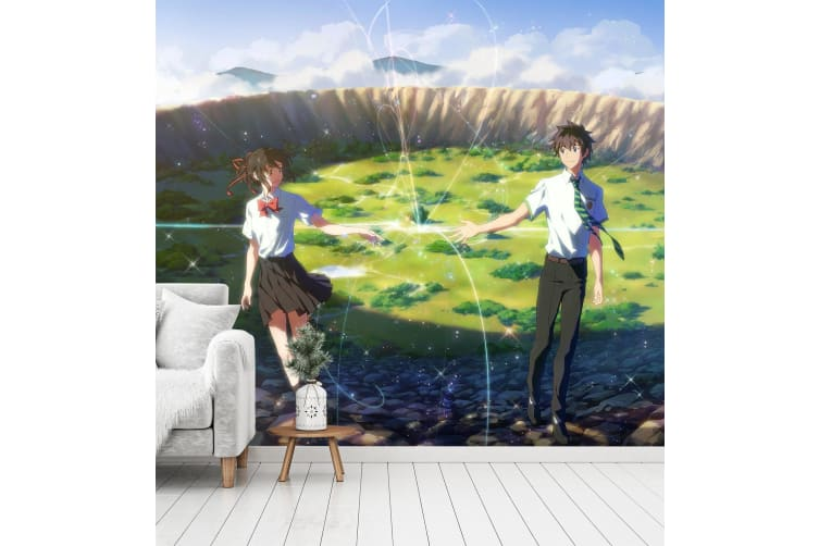 3D Your Name 083 Anime Wall Murals Woven paper (need glue), XXL 312cm x 219cm (WxH)(123''x87'')