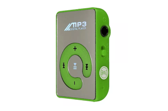 Select Mall Mini Clip Music MP3 Player Support 8GB TF Card With Earphone Portable Mini Music Media Player-Green