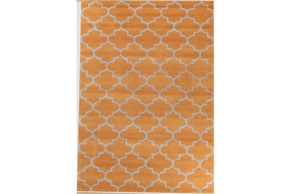 Lattice Orange Rug 165x115cm