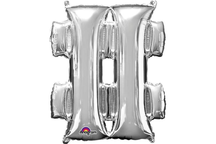 Anagram Supershape 34 Inch Punctuation Balloon (Silver) (At Sign)