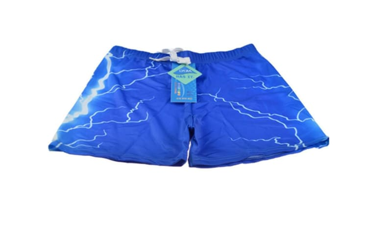 Men'S Swimming Trunks Boxers Briefs Shorts Lmitation Quick Dry Waterproof Breathable Blue Xl