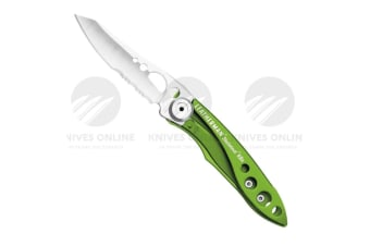 NEW LEATHERMAN SKELETOOL KBX COMBO BLADE FOLDING POCKET KNIFE SUBLIME 832384