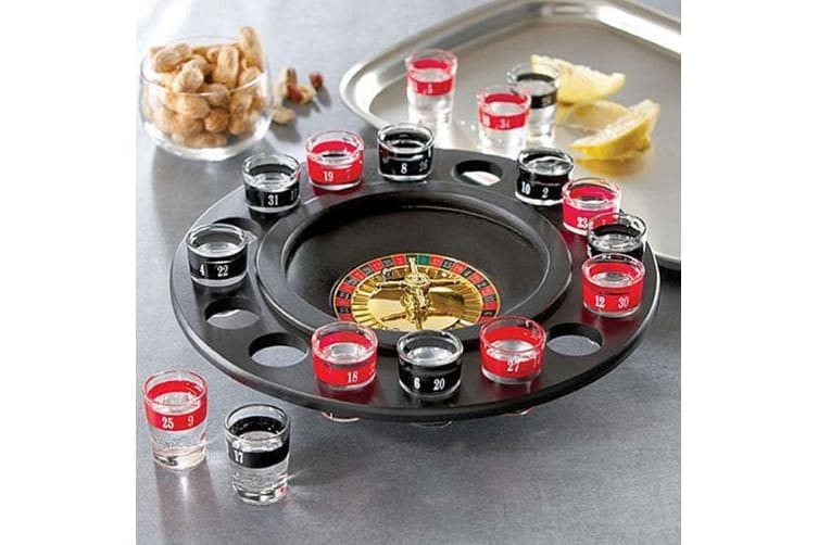 Shot Glass Roulette – Drinking Game Roulette Gamble Gambling Shots Party
