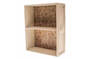 Display Shelves (White/Floral) (28 x 10 x 33cm)