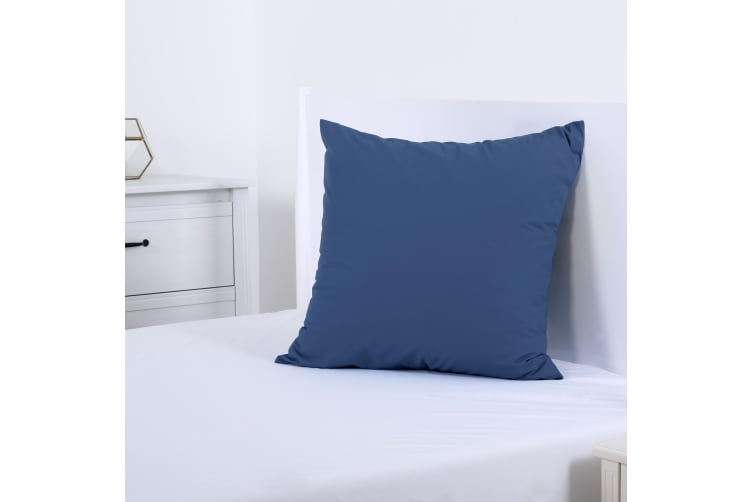 Dreamaker 250TC Plain Dyed European Pillowcase - 65X65cm Blue