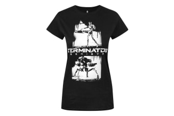Terminator Womens/Ladies Genisys Graffiti T-Shirt (Black)